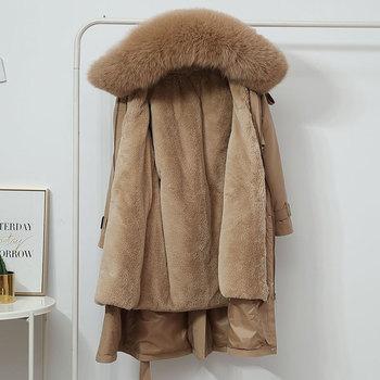 LUZUZI Women s Winter Jacket Hooded X Long Thick Warm Cotton Padded Parkas Woman Wool