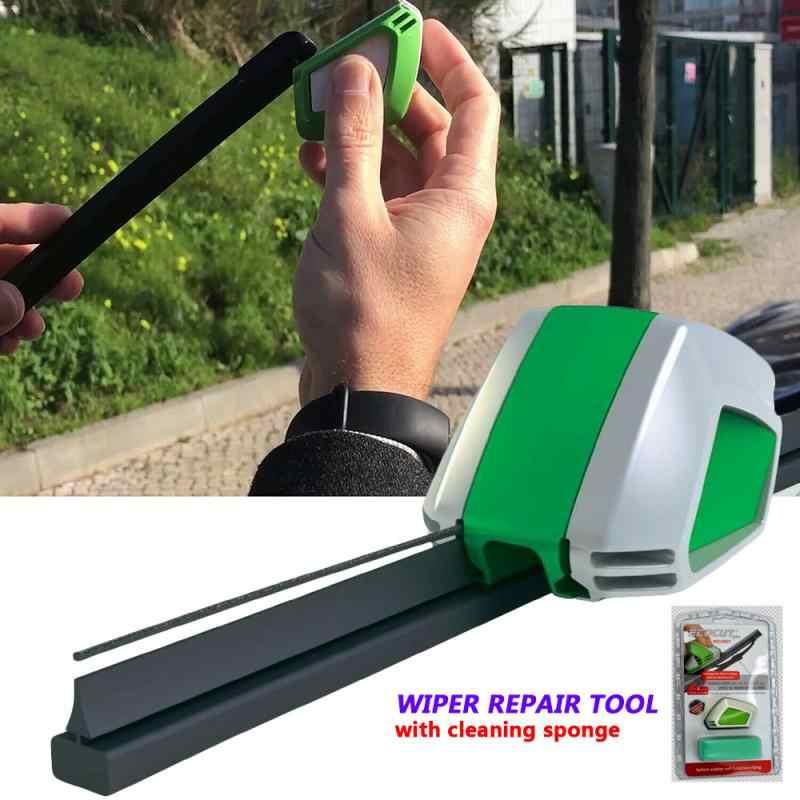 Инструмент для ремонта стеклоочистителя для автомобиля, щетка стеклоочистителя для ветрового стекла, резиновый режущий инструмент с чистящей губкой, автомобильные товары