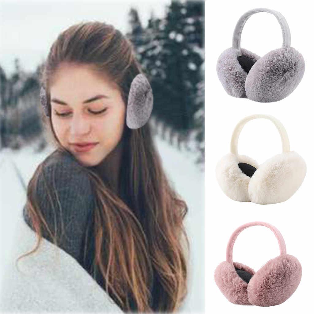 Women's Winter Warm Cute Ear Warmers Outdoor Foldable Earmuffs Ear Warmers  Ear Muff Wrap Band Warmer Earflap For Women Women's Earmuffs  - AliExpress