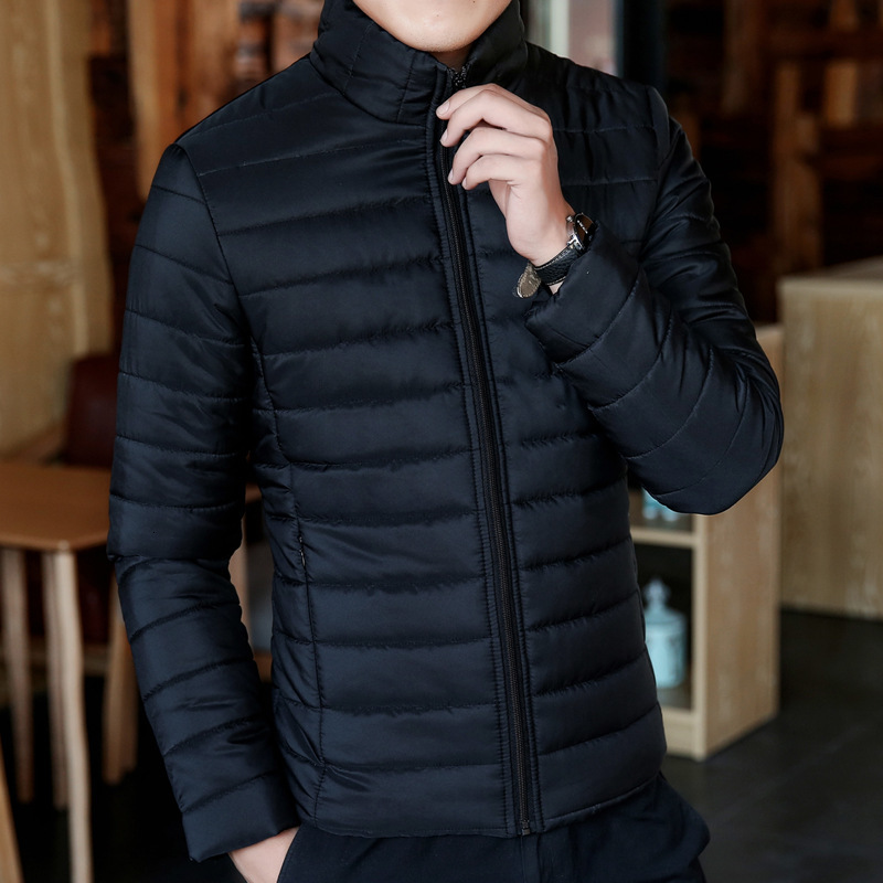 Man Loose Coat Short Lead Cotton-padded Jacket Winter Keep Warm Self-cultivation Clothes Thickening Windproof Coats