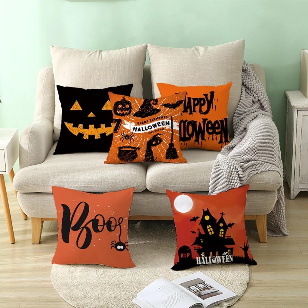 Decoration Halloween Magasin.2019 Halloween Magic Cat Cushion Cover Decor Ghost Witch Pumpkin Throw Pillow Case Sofa Car Decoration Autumn Village Decor P7 Cushion Cover Aliexpress