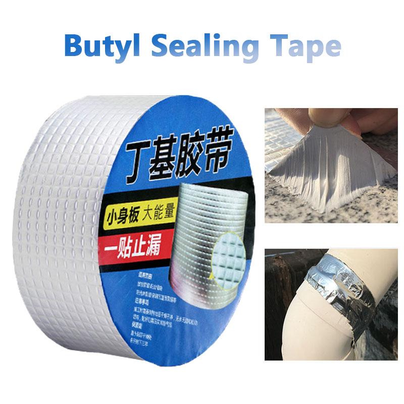 3Mx5cm Aluminum Foil Super Fix Adhesive Butyl Tape Waterproof Stop Leak Seal Repair Tape Crack Thicken Tape Home Renovation Tool