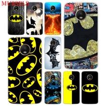 Batman Superhero TPU Phone Case For Motorola Moto G7 G6 G5S G5 E4 Plus G4 E5 Play Gift Pattern Coque Cover Shell