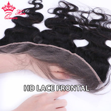 Perruque Lace Frontal Closure HD Invisible – Queen Hair, cheveux humains vierges, Body Wave, 4x4, 5x5, 13x4, avec Baby Hair, peau fondue