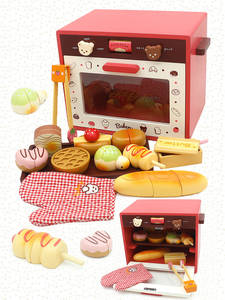 Pretend-Toy Toaster-Machine Game Wooden Christmas-Gift Kitchen Kids Children Educational-Toy