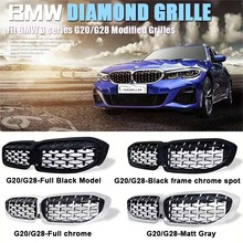 New diamond style grill For BMW new 3 series G20 G28 2019 Racing Grills Front Kidney Grille Four styles