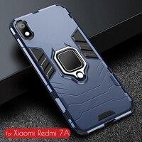 Funda de TPU A prueba de golpes para Redmi 7A, funda protectora para PC, soporte para anillo de dedo, funda de teléfono para Xiaomi Redmi 7A 7 A