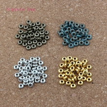 1000pcs Antique Silver & gold 4 color Tiny Disc Spacers Beads Fit Beaded bracelet 2mmx5mm D-54