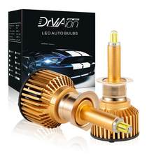 Uds H1 H7 H8/9/11/9005/HB3 9006/HB4 faro LED de coche 6000 K 100 W portabrocas giratorio integrado de los faros de trabajo bombillas de luces LED