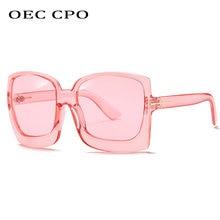 Oec cpo Квадратные Солнцезащитные очки женские новые модные