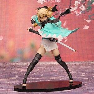Image 1 - 21cm Anime Action Figure Fate Grand Order KOHA ACE Okita Souji Sakura Saber Fighting Ver PVC Model Collection Kids Toy Brand New
