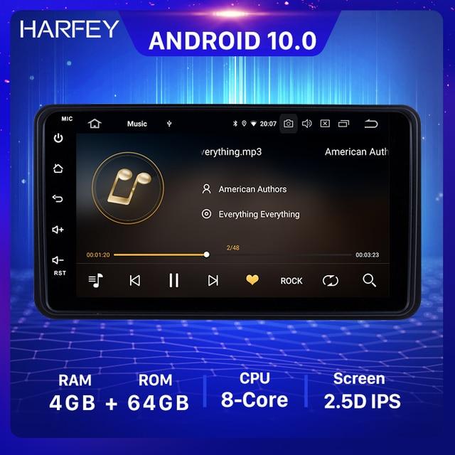 Harfey 7 Polegada 4 + 64gb android 10.0 rádio estéreo do carro para suzuki jimny 2006 2007 2012 1din unidade principal gps carro multimídia jogador wifi