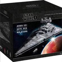 81098 звезда совместима с 75252 имперским звездным разрушителем UCS fightors Buidling блоки кирпичи развивающие игрушки подарки на день рождения
