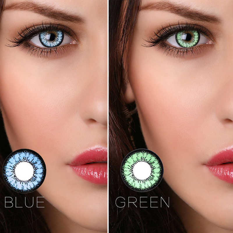 2Pcs/1Pair Honey Series Colored Contact Lenses Beauty Pupil Natural Looking Comfortble Wear Halloween Party Gift