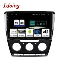 Idoing 10.2Android 9 For Skoda Octavia 2 A5 2008 2013 Car Radio Multimedia Video Player Navigation GPS Accessories Sedan No dvd