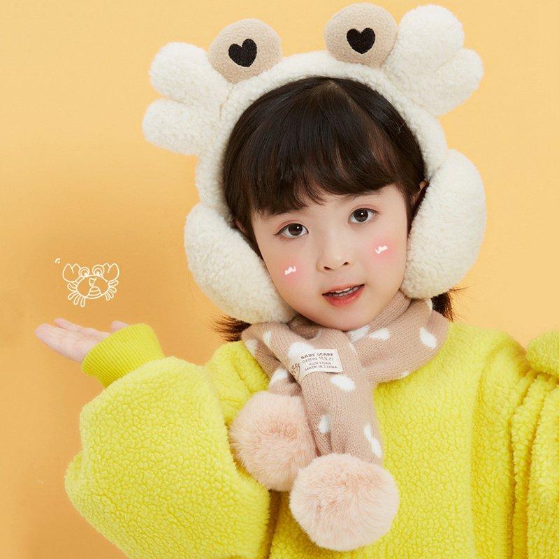 Cartoon Crab Earmuffs 2020 Autumn Winter New Children Lovely Korean Warm Cold Proof Girls Creative Outdoor Accessories Earmuffs