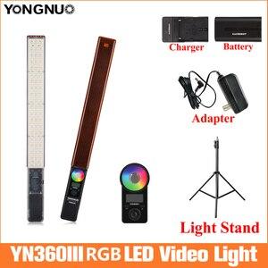 Image 1 - 永諾YN360 iiiハンドヘルドアイススティックledビデオライト 3200 に 5500 5400k ledライト電話によって制御アプリ