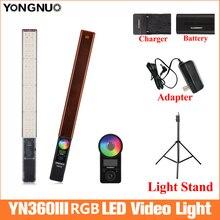 YONGNUO YN360 III כף יד קרח מקל LED וידאו אור 3200k כדי 5500k Led וידאו אור נשלט על ידי טלפון אפליקציה