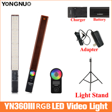 YONGNUO YN360 III el dondurma çubuğu LED Video işığı 3200k 5500k Led Video işığı telefon App tarafından kontrol