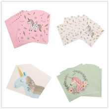20pcs 33*33cm Unicorn theme paper napkins serviettes decoupage decorated for wedding party virgin wood tissues