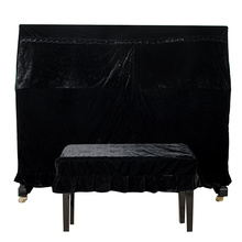 Macrame Anti-scratch Durable Soft Velvet Dust-Proof Piano Cover With Cover Practical Home Decorated Protective Beautiful