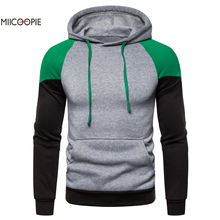 Miicoopie 2019 Mens Hoodies Autumn Brand Male Long Sleeve Patchwork Sweatshirt