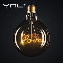 Ретро лампа со светодиодной нитью в стиле ретро g125 декоративная