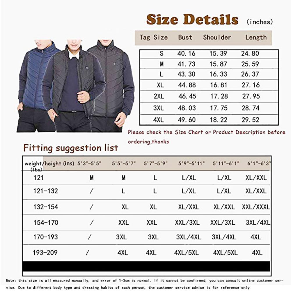 Image 5 - Electric Heated Vest Men Women Heating Waistcoat Thermal Warm Clothing Usb Heated Outdoor Vest Winter Heated JacketJackets   -