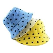 Kids Autumn Fisherman Hat Vintage Reversible Bucket Infant Beach Wear Warm velvet cap Winter Panama hat H225S