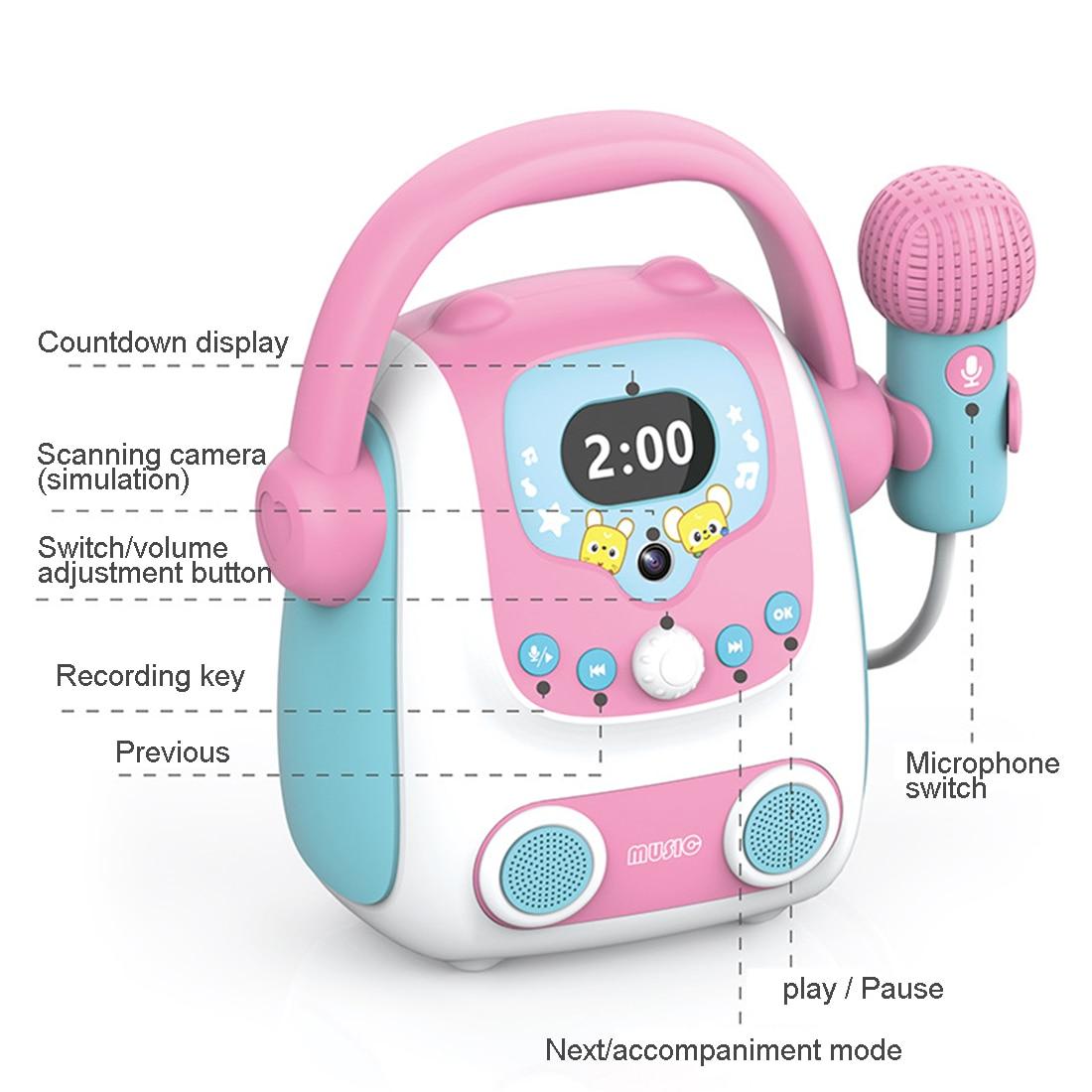 microfone karaoke bluetooth alto falante brinquedo portatil karaoke 04