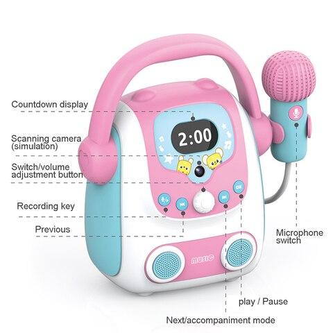 microfone karaoke bluetooth alto falante brinquedo portatil karaoke