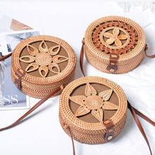Lovevook women rattan bags round straw bags