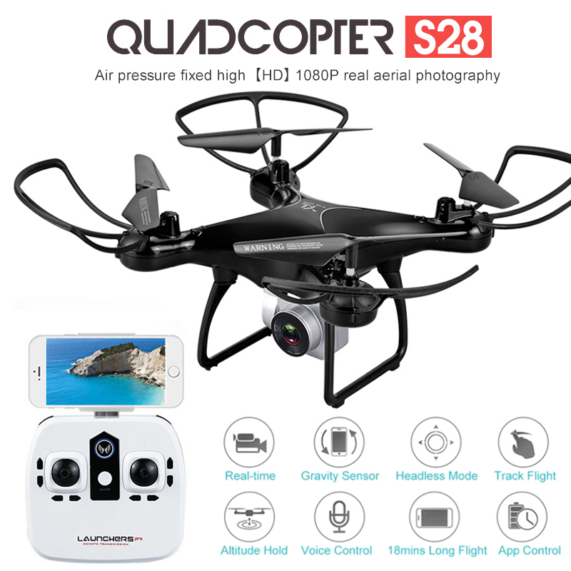 Dron profesional S28 con cámara 1080P HD WiFi FPV altitud mantener gran angular 20min vuelo RC Quadcopter helicóptero juguetes X5C XY4 Batería de 3,7 V 800mAh y cargador USB para SYMA X5 X5C X5S X5SW X5HW X5HC x5ucs X5UW RC Drone Quadcopter repuestos betery partes 3,7 v #3