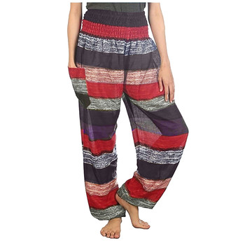 Women Girl Striped Printed High Waist Sexy Loose Pants Trousers Sport  Casual Wide Leg Pants Female Plus Size S-5XL striped elastic waist cotton loose women wide leg pants summer new casual brand pants high quality plus size girl harem trousers