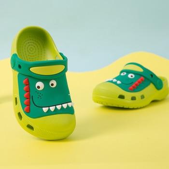 Summer Children Hole Shoes Toddler Baby Boy Girl Home Slippers Cute Dinosaur Cartoon Beach - discount item  25% OFF Children's Shoes