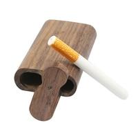 Wooden Cigarette Case Ceramic Cigarette Tube Household Cigarette Storage Box Smoking Hand Pipe Accessories