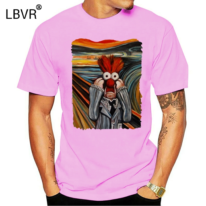 The Scream The Muppet Show Beaker Meep Retro Adult T-Shirt TEE Shirt Big Tall