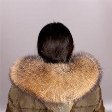 Cuello de piel de mapache Real para mujer, piel Natural gris, Collar, chal de piel auténtica, cuello de mapache, piel