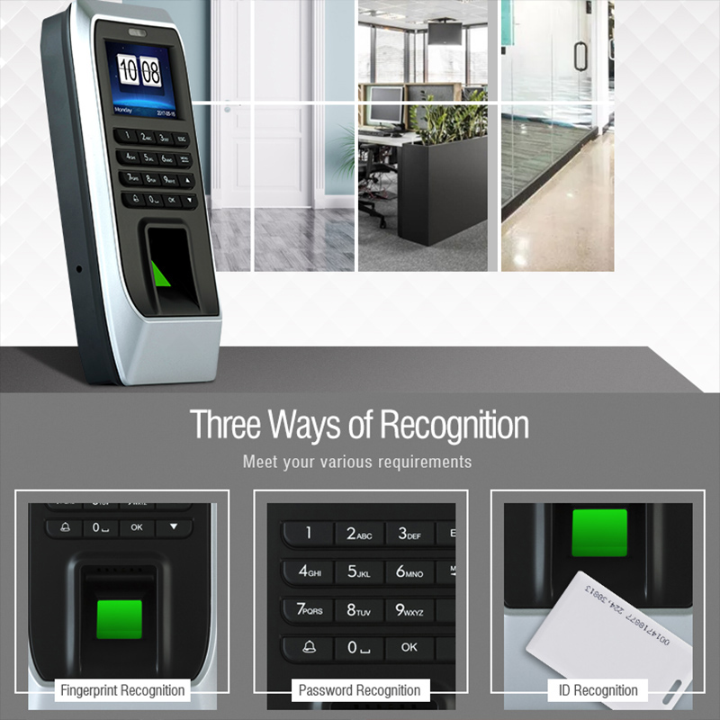 Fingerprint Machine Time Attendance Fingerprint Recognition Password Door Opener Access Control System Employee Checking-in NC99