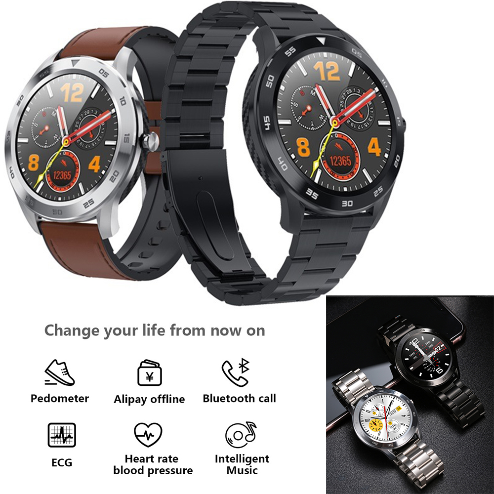 <font><b>DT98</b></font> <font><b>Smart</b></font> <font><b>Watch</b></font> Men Heart Rate Tracker Pedometer Call Message Reminder SmartWatch NFC Alipay Activity Wearable vs DT78 image