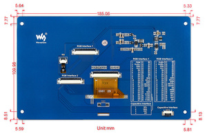 Image 5 - Waveshare 7inch Capacitive Touch LCD (G) 800 * 480 Multicolor Graphic LCD touch screen for use with MCU with LCD controller