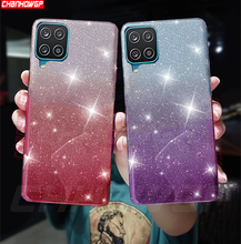 For Samsung Galaxy A12 Case Glitter Gradient Soft TPU Phone Cases on For Samsung A 12 A125 SM A125F Bling Silicone Back Cover