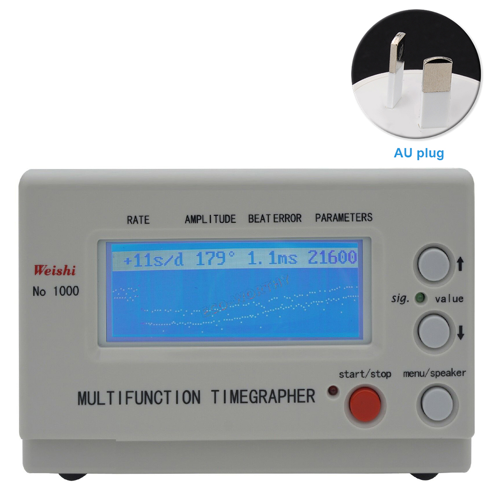 MTG 1000 Clock Professional Timing Test For Watchmaker Calibration Tool Accurate Watch Timegrapher Mechanical Multifunctional