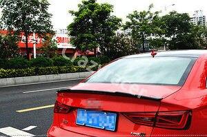 Image 1 - A3 S3 8V Carbon Fiber Kofferbak Lip Spoiler Wing Voor Audi A3 S3 8V Sedan 2014 2015 V Stijl
