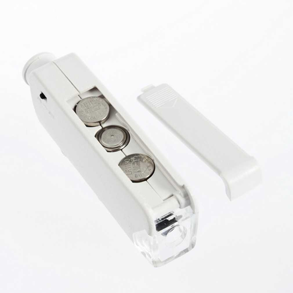 Ręczny 160X-200X powiększenie Zoom Len LED oświetlony lampa światła kieszonkowy lupa mikroskopowa lupa