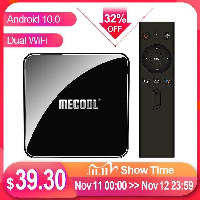 MECOOL KM3 טרקטורונים Androidtv Google מוסמך טלוויזיה תיבת אנדרואיד 10 אנדרואיד 9.0 4GB 64GB Amlogic S905X2 4K 5G הכפול Wifi KM9 PRO 4GB 32GB