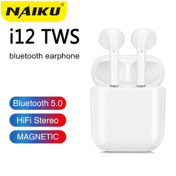 NAIKU i9s i12 TWS Wireless Headset Touch Key Bluetooth 5.0 Sport Earphone Stereo For iPhone Xiaomi Huawei Samsung Smart Phone mini wireless bluetooth earphone i9s tws stereo headset invisible earbud for all smart phone for iphone huawei pk i7s i12 i11