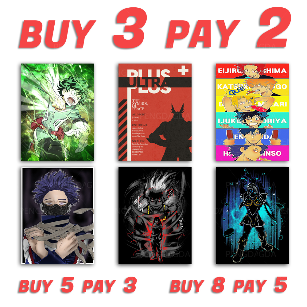 HD Print Painting Home My Hero Academia Green Fight Decor Canvas Poster Modular Pictures Modern Living Room No Frame Wall Art
