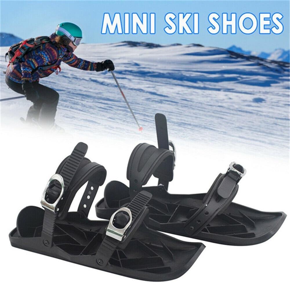 Mini chaussures de neige de patin de Ski les lames de neige de planche à Ski courtes fixations réglables de haute qualité chaussures de Ski portables planche à neige