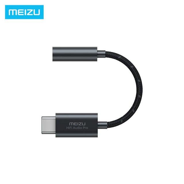 الأصلي Meizu HIFI DAC فك مضخم ضوت سماعات الأذن برو نوع C إلى 3.5 مللي متر محول الصوت سيروس و TI سوبر مرحلتين مكبر للصوت